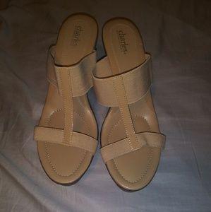 Beige Wedge Sandals